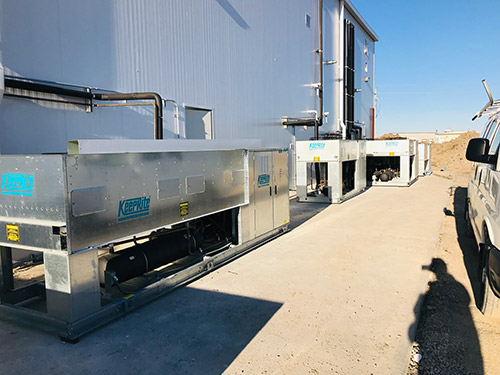 Refrigeration System Outside Facility